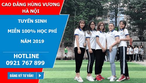 Cao đẳng Hùng Vương Hà Nội miễn 100% học phí năm 2019 - Ảnh 1