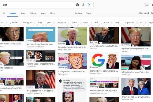 Tổng thống Trump bị bôi nhọ hình ảnh trên thanh tìm kiếm Google - Ảnh 1