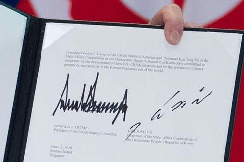 Chuyên gia phân tích chữ ký của lãnh đạo Mỹ - Triều tiết lộ điều bất ngờ - Ảnh 1