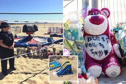 Anh: Nhà phao bất ngờ phát nổ vì trời nắng nóng, một bé gái thiệt mạng - Ảnh 1