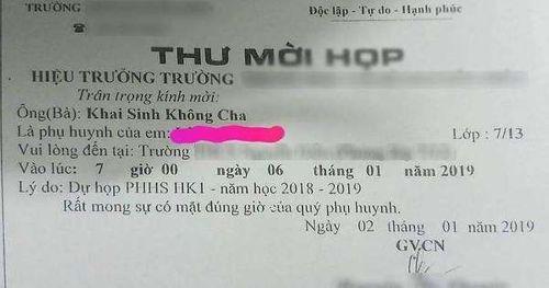 Bức thư mời họp phụ huynh kỳ dị, gây phẫn nộ ở TP HCM - Ảnh 1