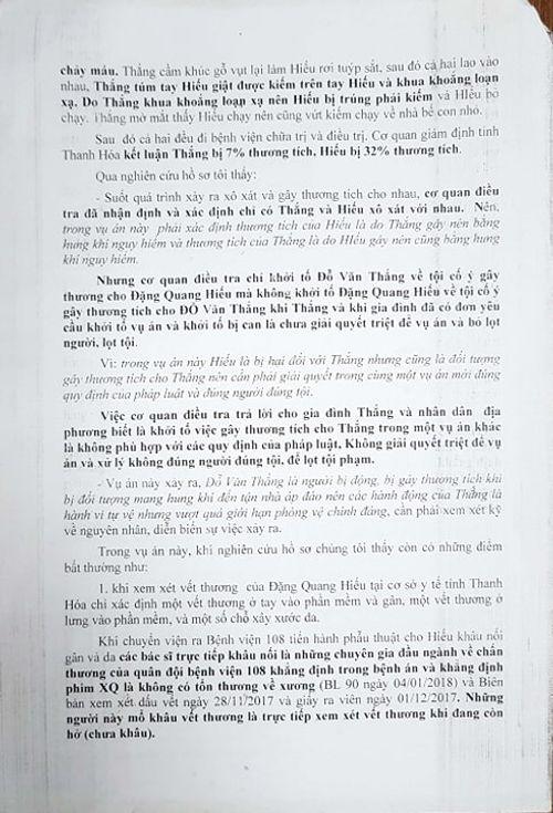 Luật sư phân tích vụ phòng vệ quá giới hạn bị truy tố ở Thọ Xuân (Thanh Hóa) - Ảnh 1