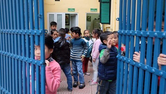 Học sinh trường Tiểu học Bà Triệu trong giờ ra chơi.