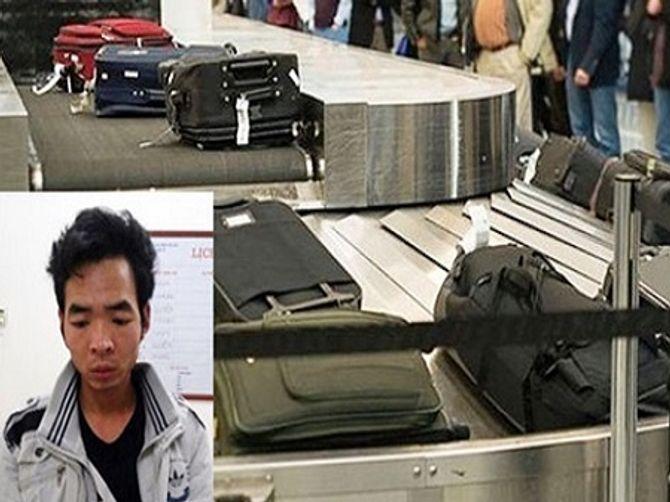 Tóm gọn đối tượng chuyên trộm đồ tại sân bay Nội Bài - Ảnh 1