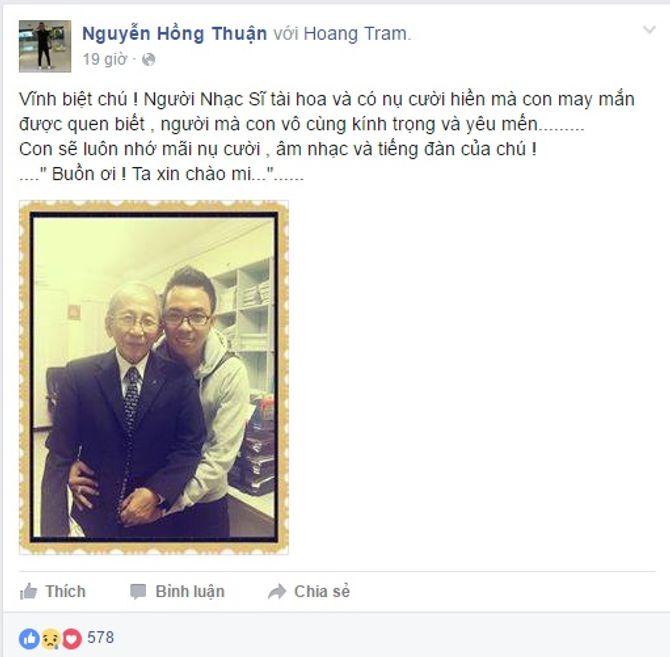 Sao Việt tiếc thương nhạc sĩ Nguyễn Ánh 9 - Ảnh 3