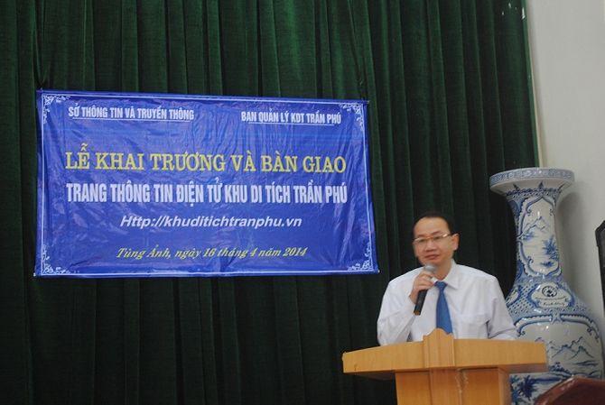 Hà Tĩnh: Khai trương cổng thông tin điện tử khu di tích Trần Phú - Ảnh 2