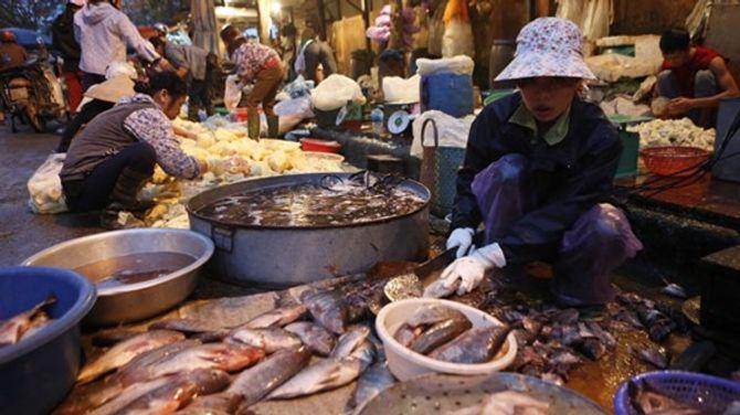 Bát nháo thực phẩm chợ đầu mối - Ảnh 1