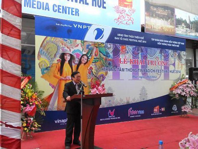 Khai trương Trung tâm Báo chí Festival Huế 2014 - Ảnh 1
