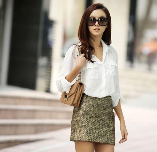 Biến hóa các cách mix đồ cùng áo sơmi trắng - Ảnh 9