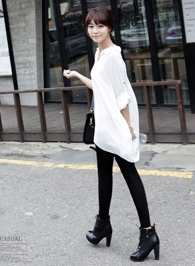 Biến hóa các cách mix đồ cùng áo sơmi trắng - Ảnh 14