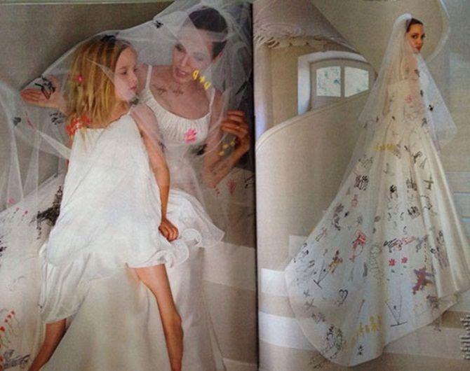 Ngắm Angelina Jolie và Brad Pitt hạnh phúc trong lễ cưới - Ảnh 2