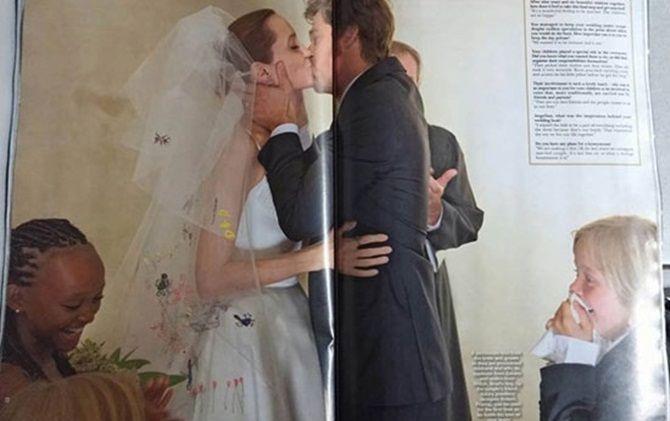 Ngắm Angelina Jolie và Brad Pitt hạnh phúc trong lễ cưới - Ảnh 5