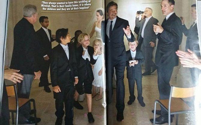 Ngắm Angelina Jolie và Brad Pitt hạnh phúc trong lễ cưới - Ảnh 7