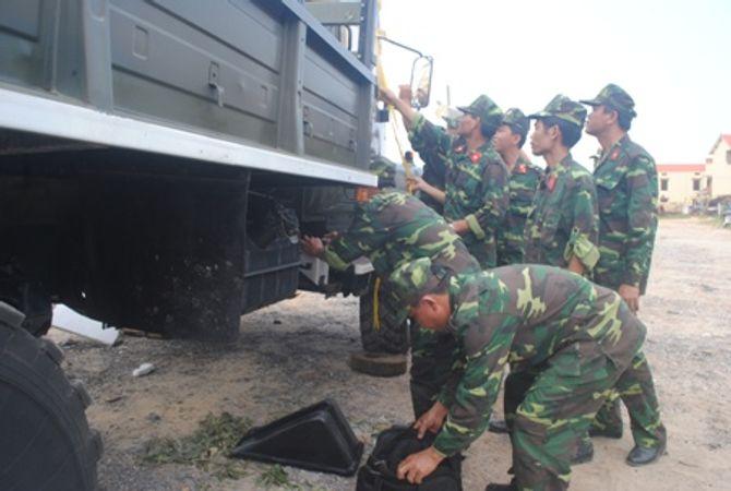 Hình ảnh đoàn xe quân sự phục vụ Lễ tang Đại tướng tại Quảng Bình - Ảnh 1