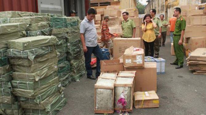 10 container hàng nhập lậu từ Trung Quốc được thông quan VICT - Ảnh 1