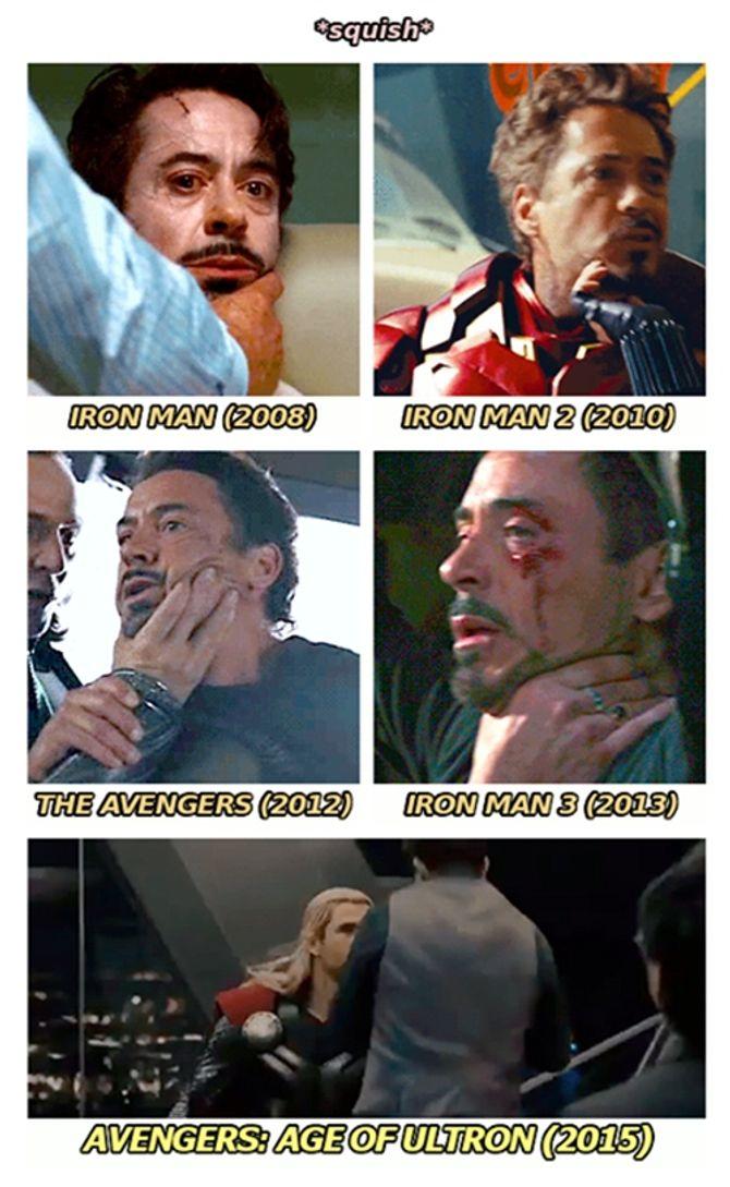 Người hùng hay bị túm cổ nhất đội Avengers là... Iron Man