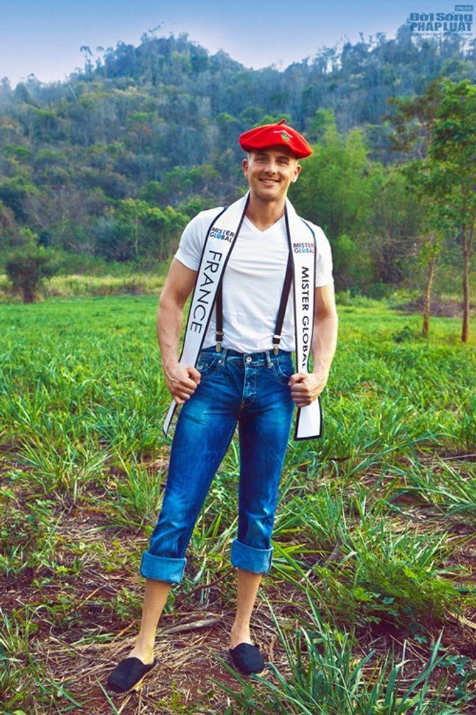 Hữu Vi nổi bật với trang phục dân tộc tại Mister Global 2014 - Ảnh 8