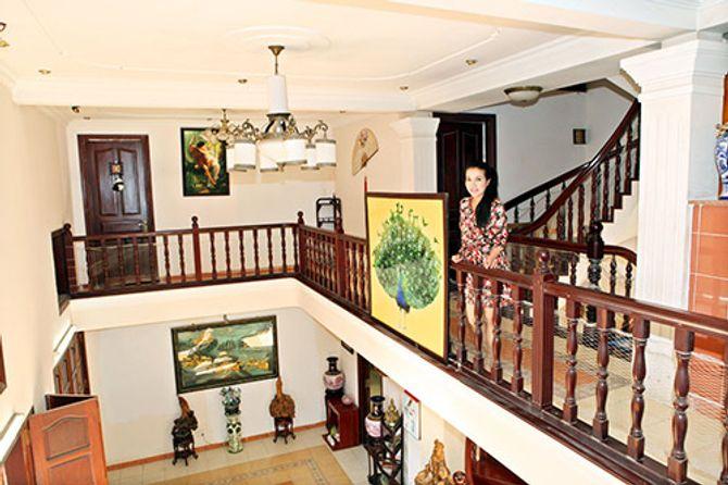 Ngắm ngôi nhà bằng gỗ nghìn m2 giá bạc tỷ của Thùy Dương - Ảnh 6