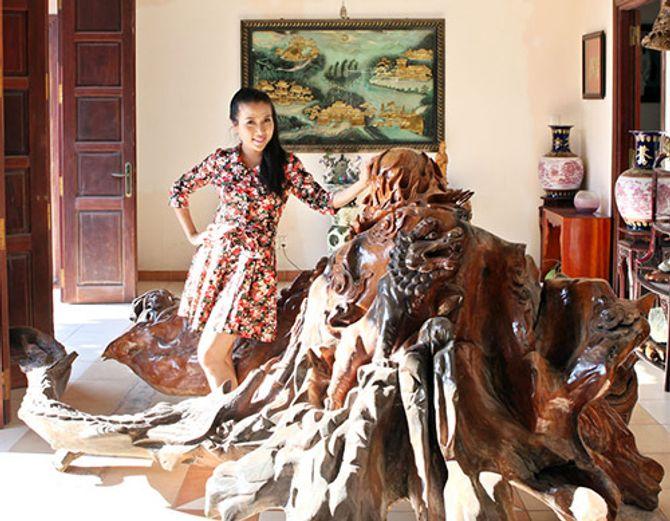 Ngắm ngôi nhà bằng gỗ nghìn m2 giá bạc tỷ của Thùy Dương - Ảnh 9