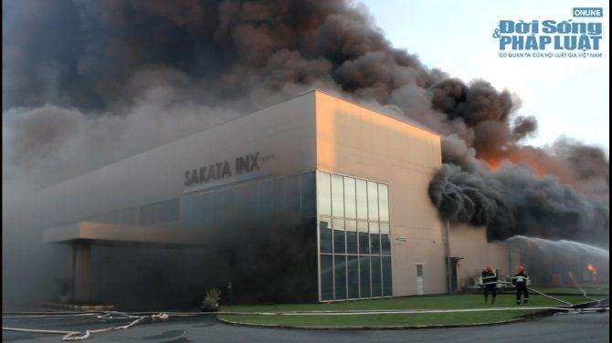 Trực tiếp: Cháy lớn tại KCN Vsip Bình Dương  - Ảnh 2