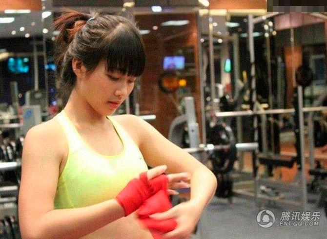 Hot girl Boxing Khả Ngân trên báo Trung Quốc
