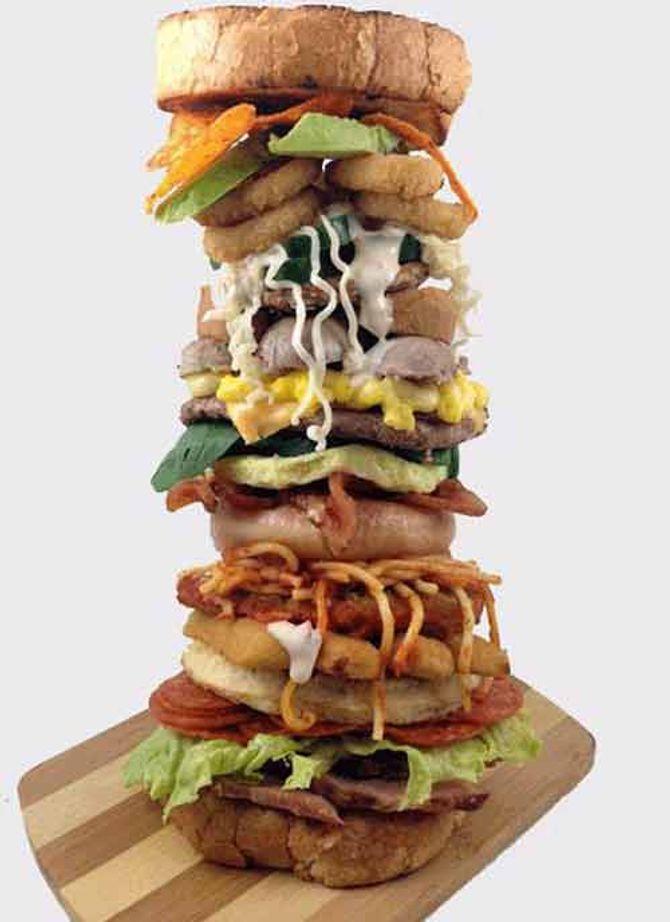 Độc đáo món bánh sanwich có 26 tầng, mỗi tầng 1 vị - Ảnh 1