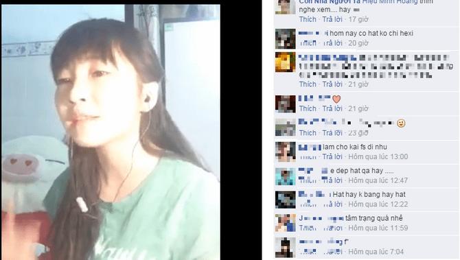 Clip hát rap của Như Hexi chia sẻ trên facebook luôn nhận được sự thích thú  của cộng đồng mạng.