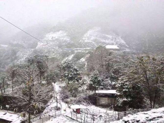 Tuyết rơi ở Lũng Cú Hà Giang chỉ là tin đồn 4