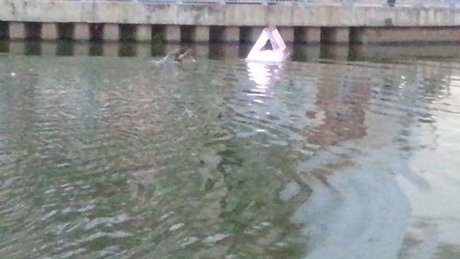 Video: Xôn xao thanh niên bơi hơn một tiếng trên kênh Nhiêu Lộc 7