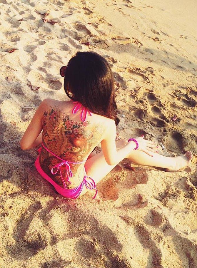 Cô gái có hình xăm khủng diện bikini ở Nha Trang là ai? - Ảnh 3