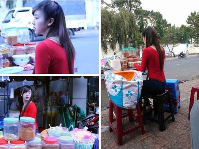 4 hot girl bán đồ vỉa hè làm mê mẩn cộng đồng mạng Việt