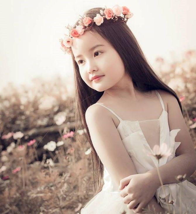 Ngắm vẻ đẹp tựa thiên thần của cô bé 6 tuổi Bảo Thy: