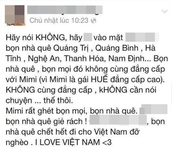 Cô gái Huế buông lời vô cảm miệt thị dân Thanh Hóa, Nghệ An, Hà Tĩnh