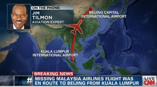 Vụ máy bay Malaysia mất tích: Nhìn thấy máy bay lần cuối khi nào?
