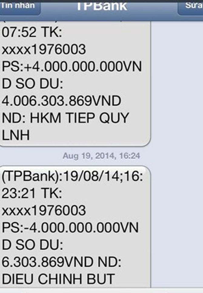 Nhân viên ngân hàng sai sót, khách hàng nhận được 4 tỉ đồng
