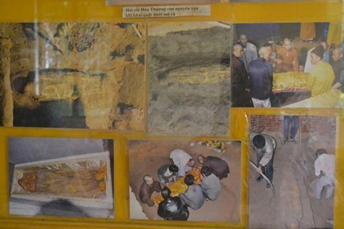 Giải mã di cốt vị Hòa thượng hóa thạch với bộ cà sa nguyên vẹn - Ảnh 1