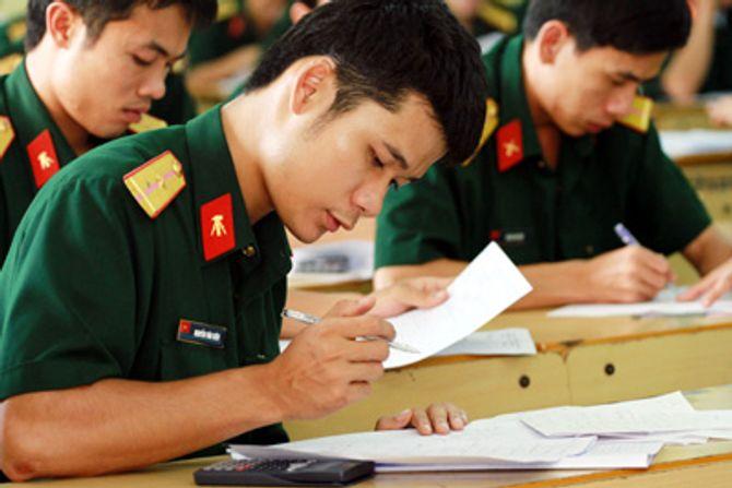Công bố tuyển sinh 2015 tại các trường quân đội