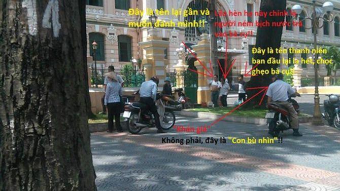 Phẫn nộ việc cụ bà bị hành hung giữa Sài Gòn - Ảnh 2