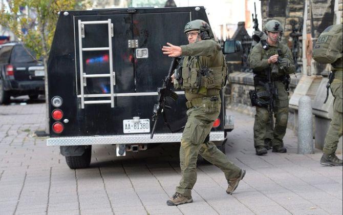 Hiện trường vụ xả súng kinh hoàng ở tòa nhà Quốc hội Canada - Ảnh 2
