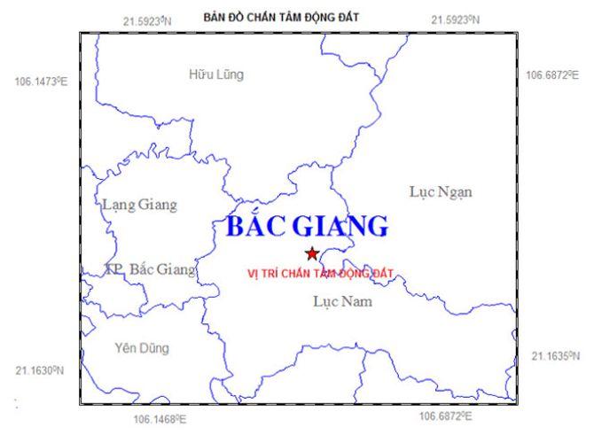 Động đất 2,9 độ richter ở Bắc Giang 1
