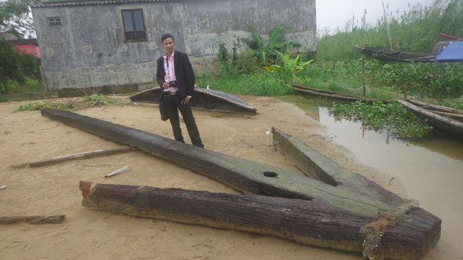 Mỏ neo khổng lồ đã đưa vào bảo tàng tỉnh Thừa Thiên Huế - Ảnh 1