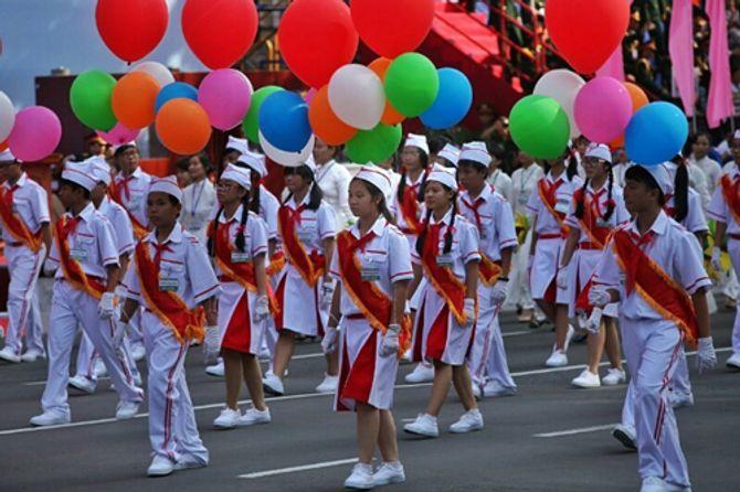 Cận cảnh tổng duyệt mít tinh, diễu binh mừng 40 năm thống nhất đất nước - Ảnh 12