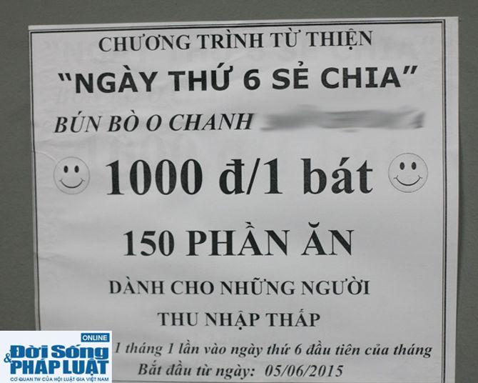 Cảm động quán bún bò 1.000 đồng dành cho người nghèo giữa Hà Nội - Ảnh 3