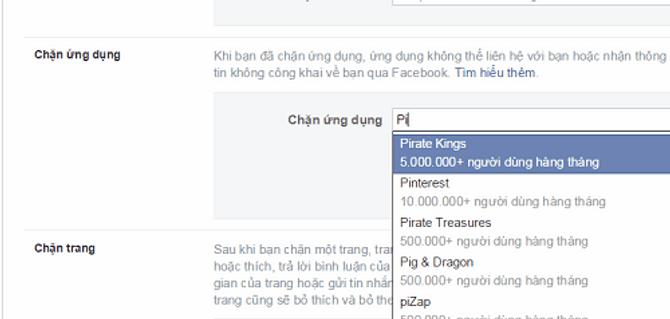 Cách chặn thông báo mời chơi Pirate Kings trên facebook 4
