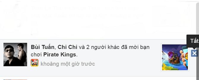 Cách chặn thông báo mời chơi Pirate Kings trên facebook 6