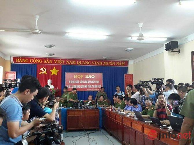 Cập nhật thông tin họp báo về vụ thảm sát ở Bình Phước - Ảnh 5