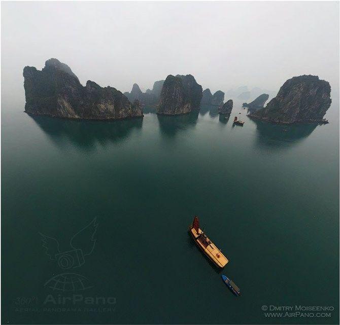 Vịnh Hạ Long đẹp tuyệt vời qua ảnh panorama từ trên cao - Ảnh 2