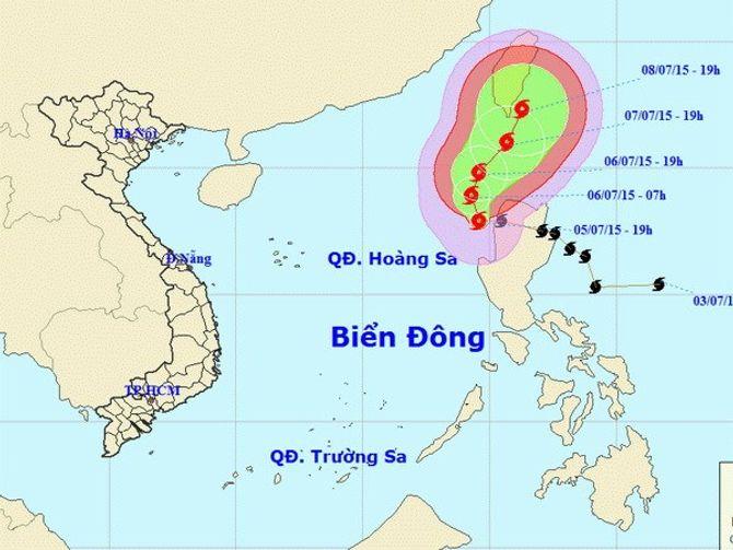 Cập nhật tin mới nhất về cơn bão Linfa trên biển Đông