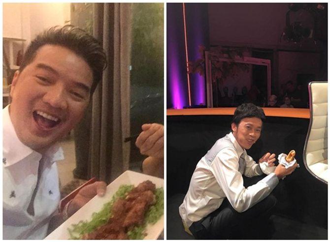 Hoài Linh ngồi xổm, gặm bánh mỳ sau ghế nóng khiến fan xót xa - Ảnh 1