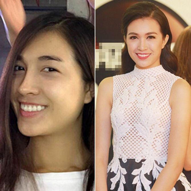 Chấm điểm mặt mộc của các nàng Hoa hậu & Á hậu Việt nổi tiếng - Ảnh 15